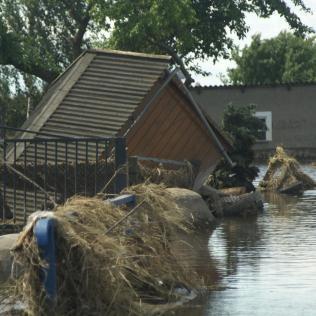 Elbe Hochwasser in Fischbeck
