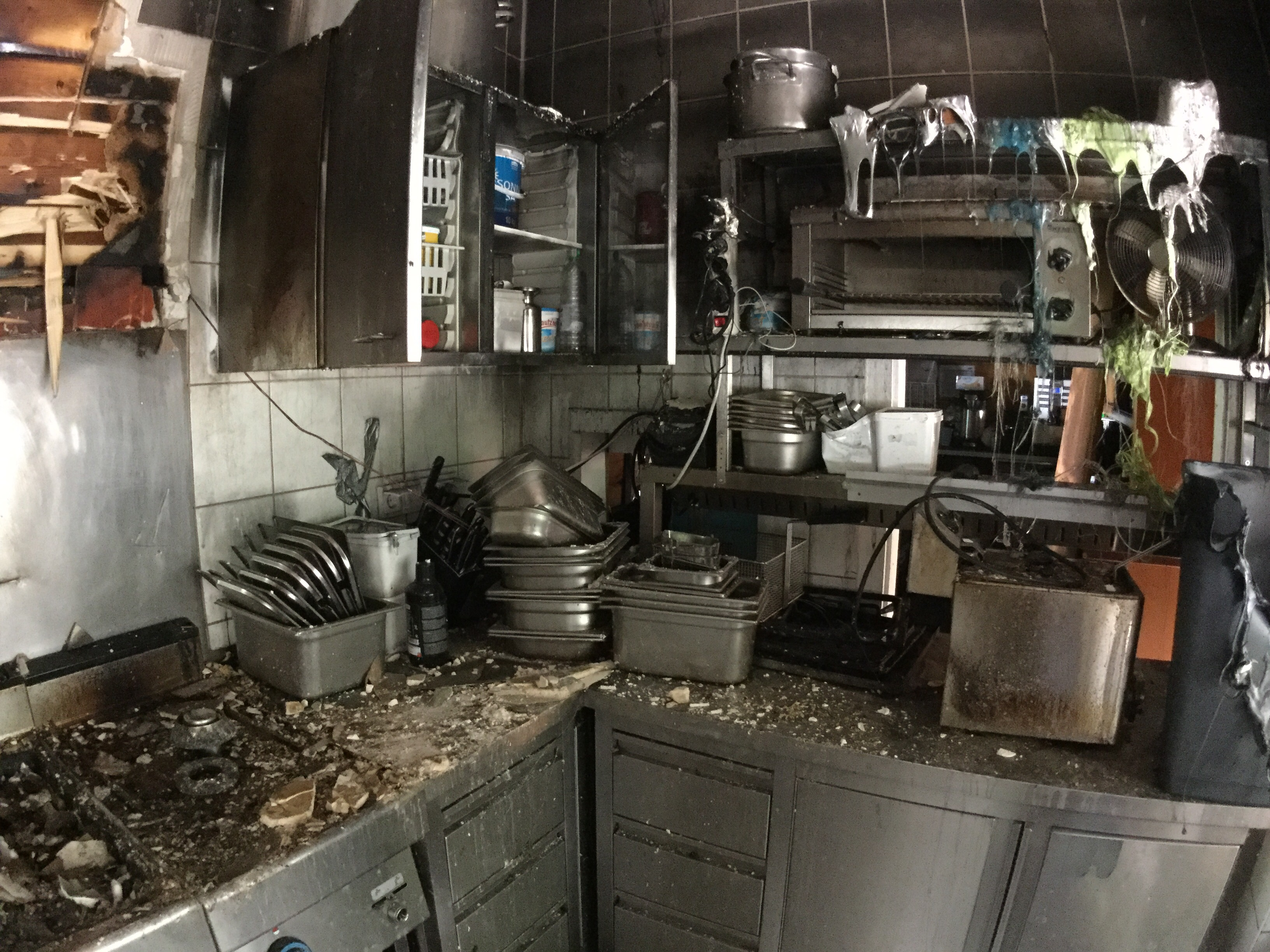 Brandschaden in Küche